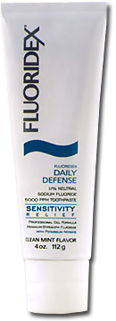 Fluoridex Daily Defense 1.1% Neutral Sodium Fluoride Paste Sensitivity Relief Formula with Potassium Nitrate
